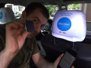 Cab driver uses the innovative stamp for payment authorization via elopay.me